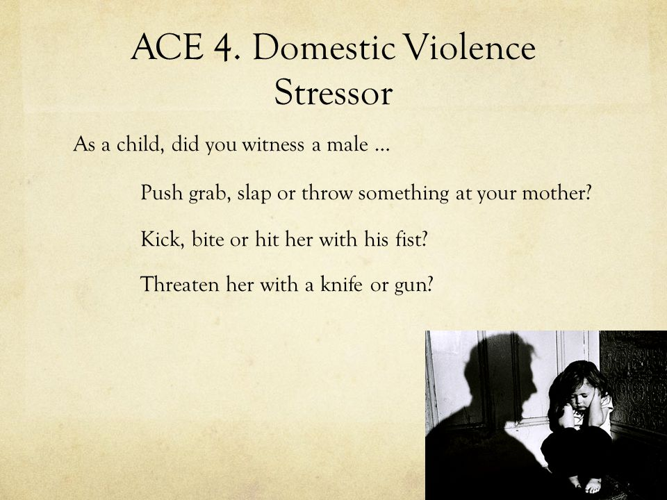 ACE 4. Domestic Violence Stressor