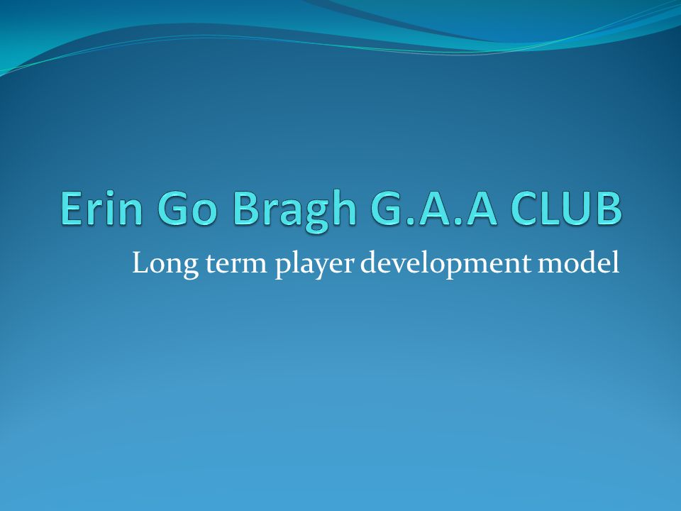 Long term player development model