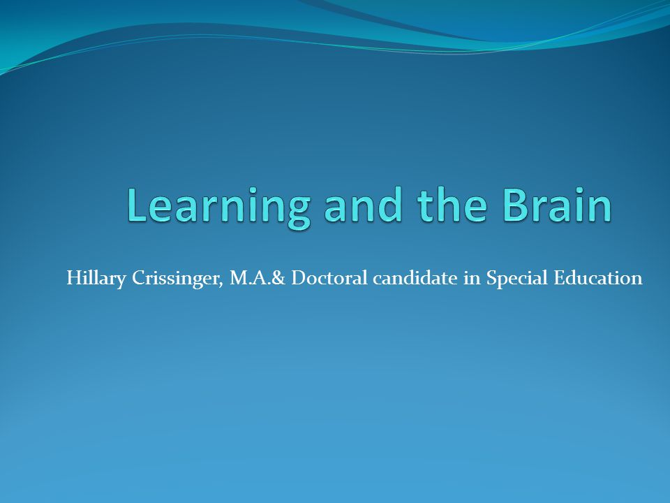 Hillary Crissinger, M.A.& Doctoral candidate in Special Education