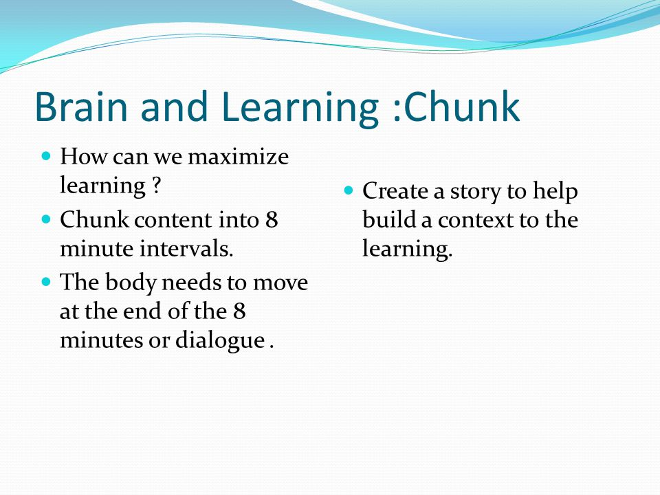 Brain and Learning :Chunk