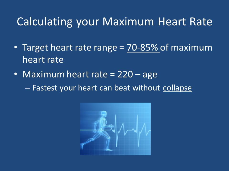 Calculating your Maximum Heart Rate