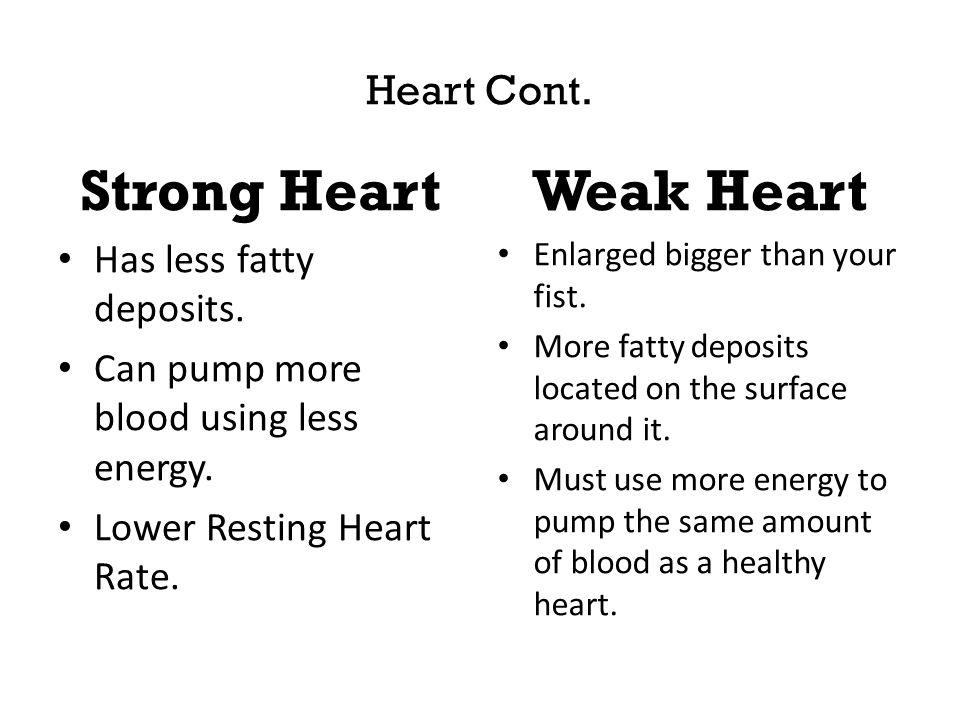 Strong Heart Weak Heart