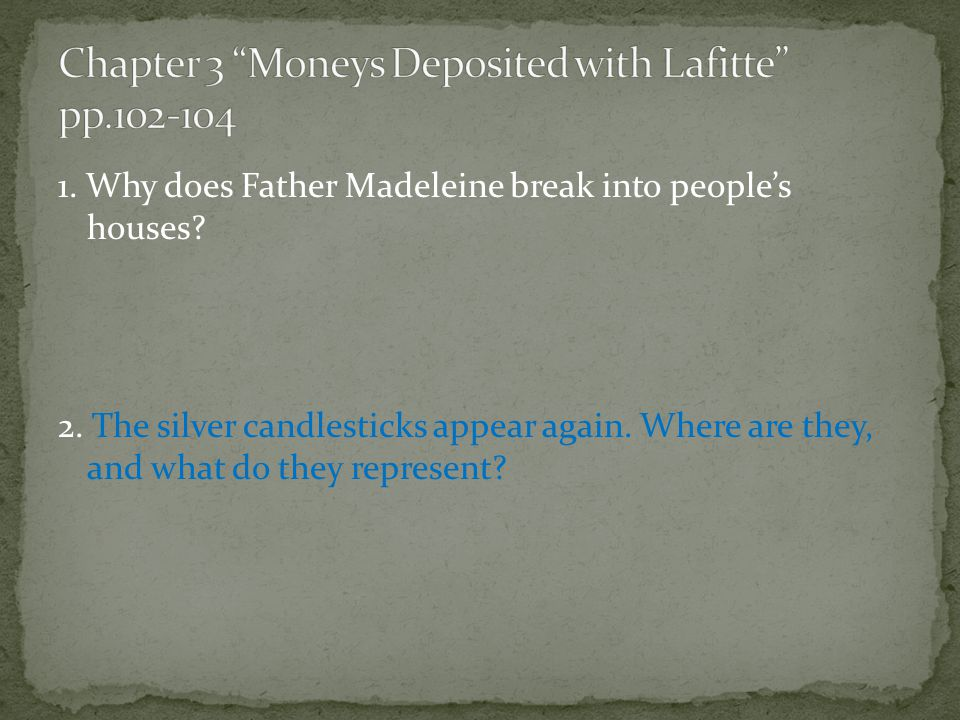 Chapter 3 Moneys Deposited with Lafitte pp.102-104