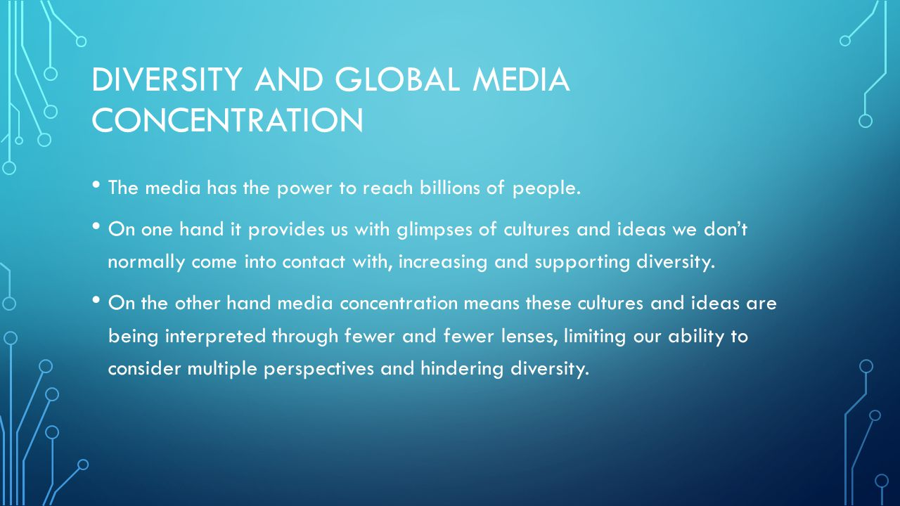 Diversity and Global Media Concentration