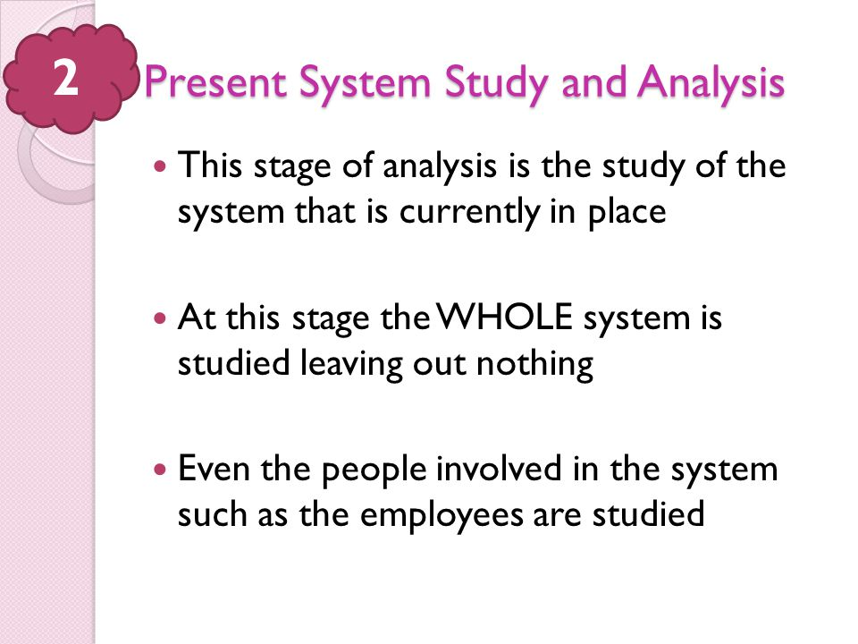 Present System Study and Analysis