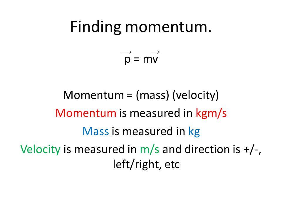 Finding momentum.