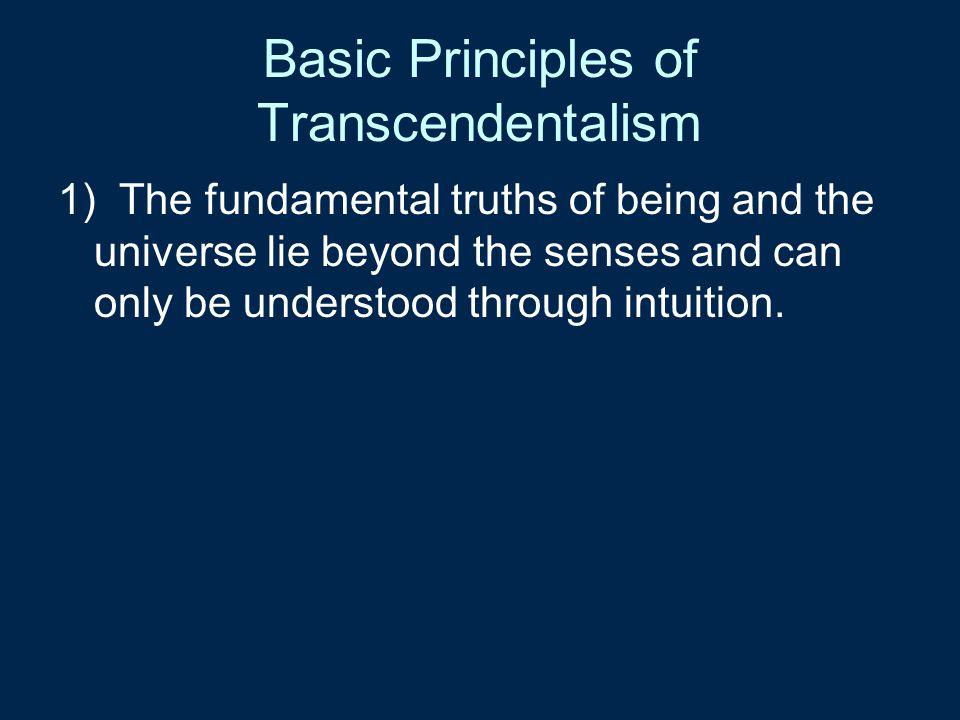 Basic Principles of Transcendentalism