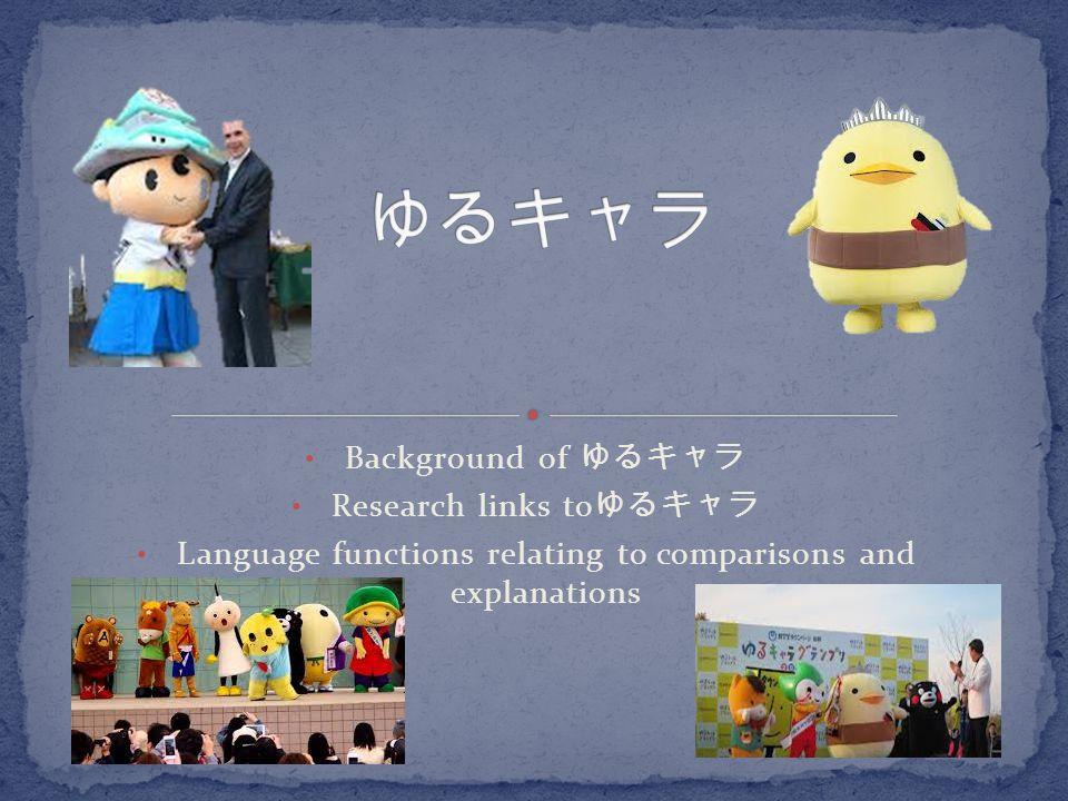 ゆるキャラ Background of ゆるキャラ Research links toゆるキャラ