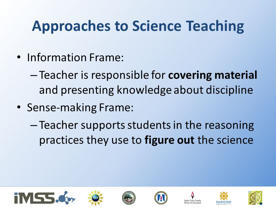 Approaches to Science Teaching