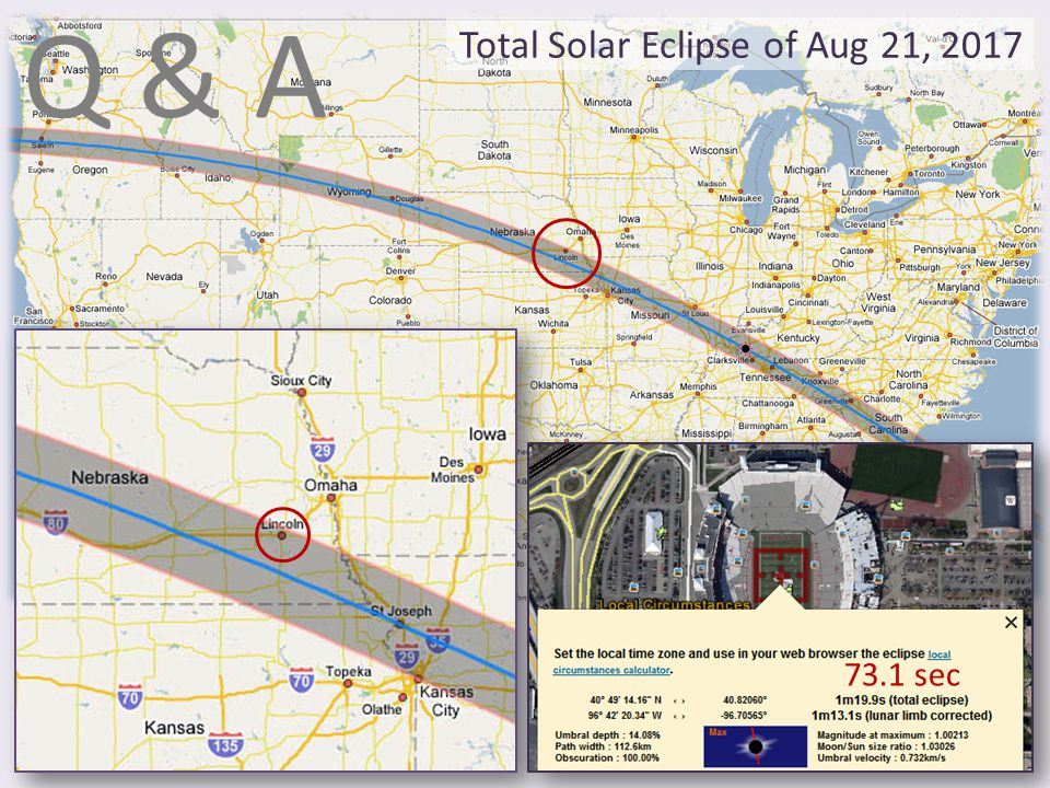Q & A Total Solar Eclipse of Aug 21, 2017 73.1 sec