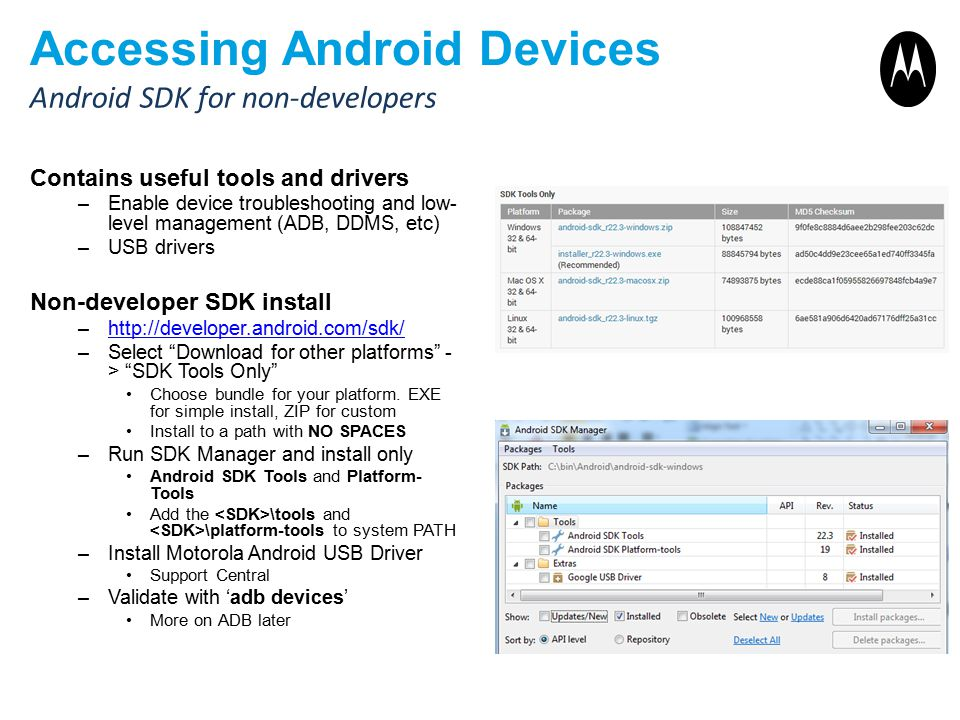 Accessing Android Devices