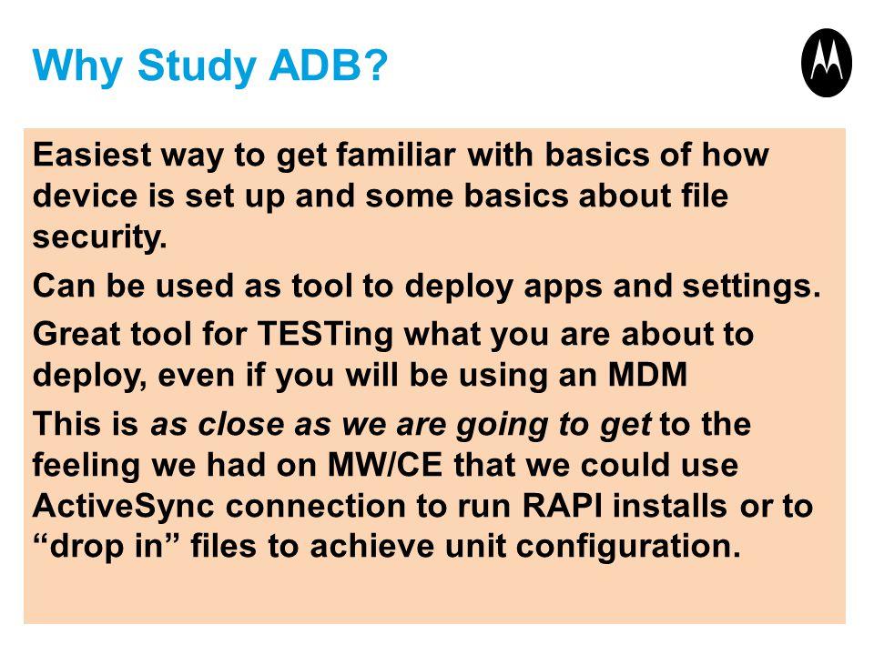 Why Study ADB