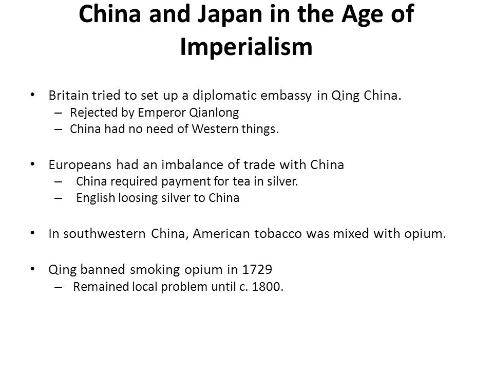 China and Japan in the Age of Imperialism