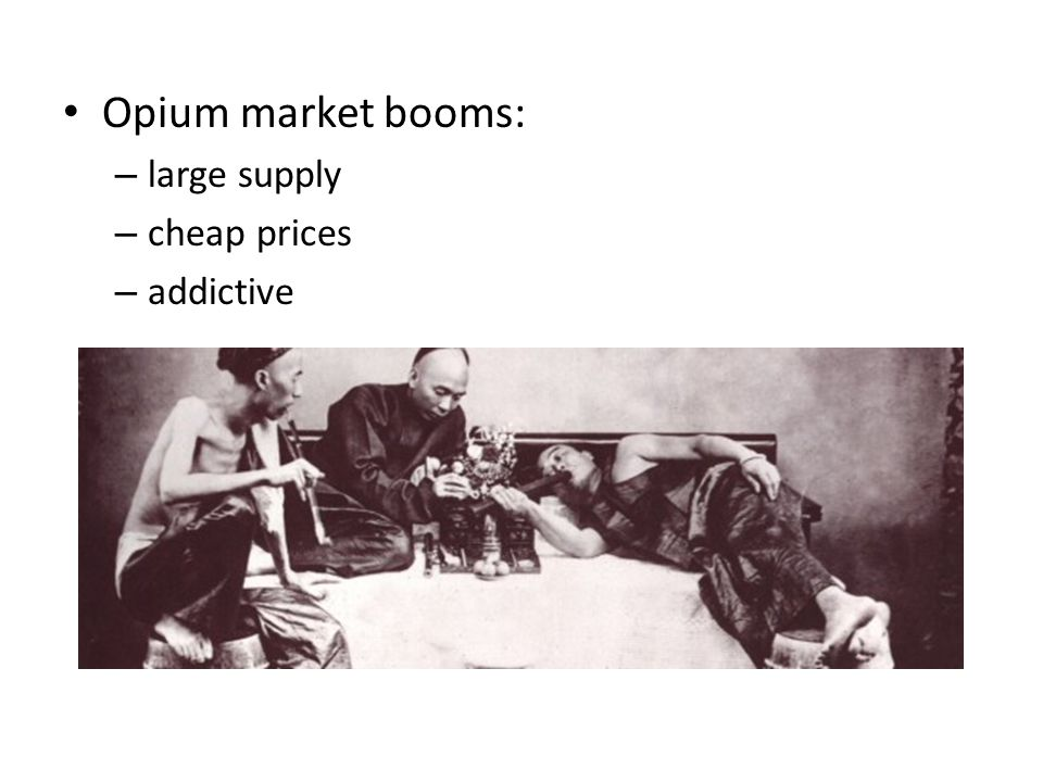 Opium market booms: large supply cheap prices addictive