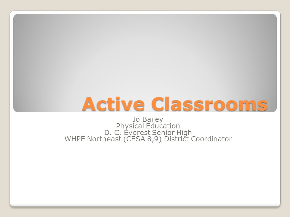 WHPE Northeast (CESA 8,9) District Coordinator