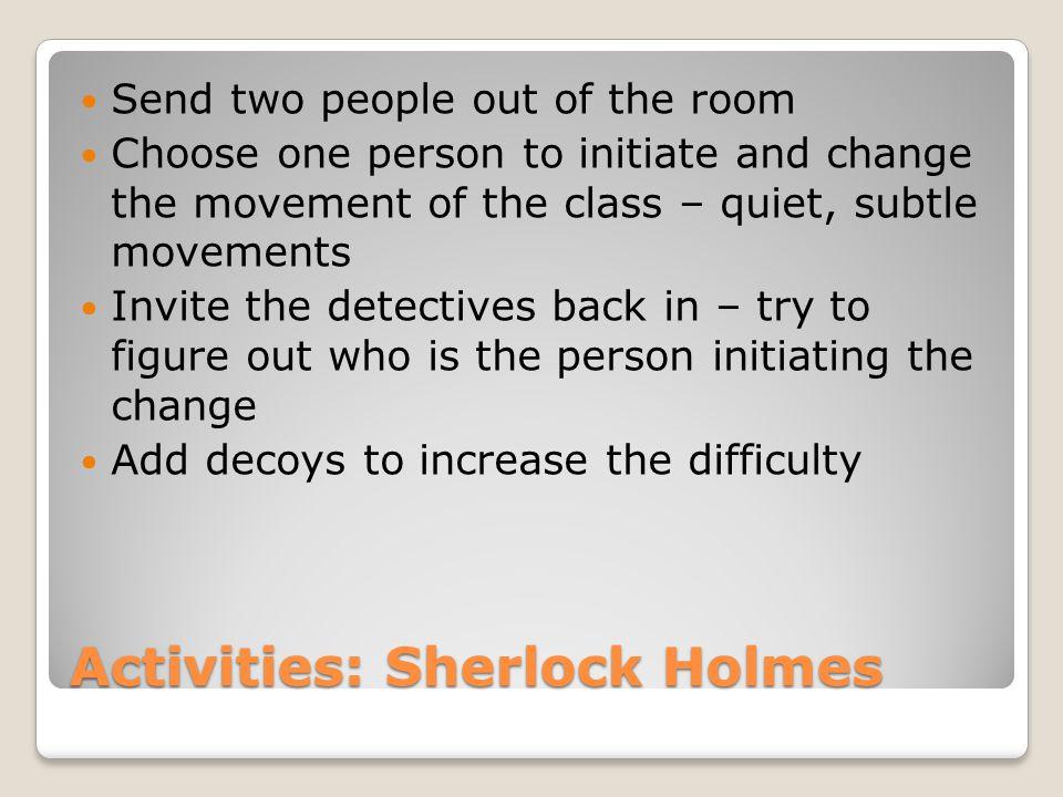 Activities: Sherlock Holmes