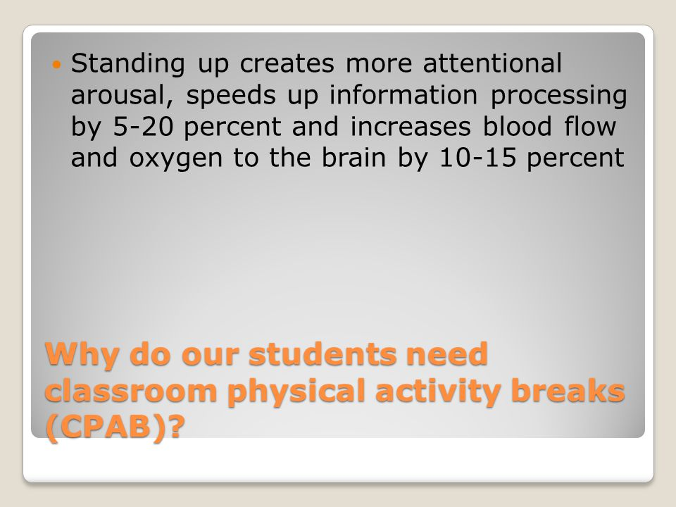 Why do our students need classroom physical activity breaks (CPAB)
