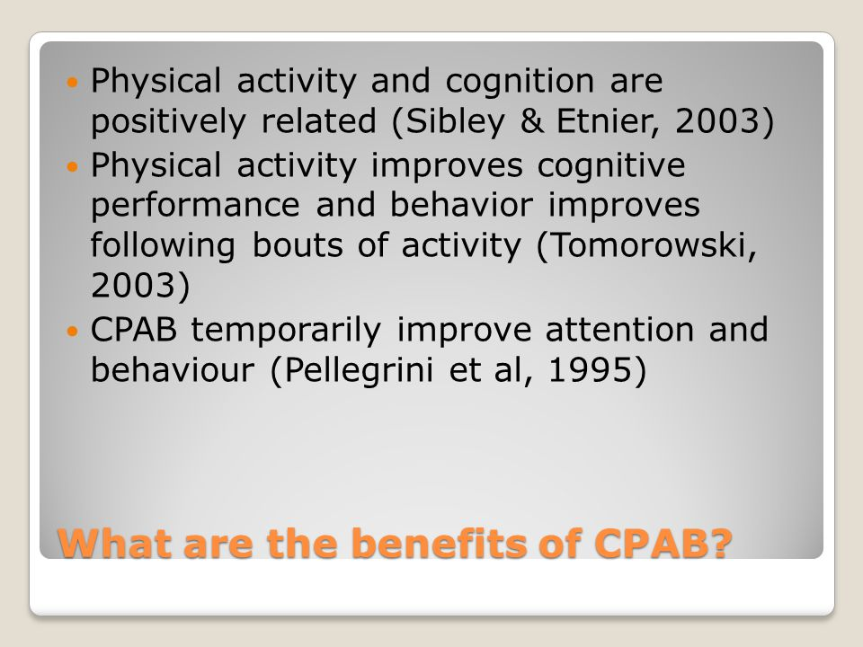 What are the benefits of CPAB