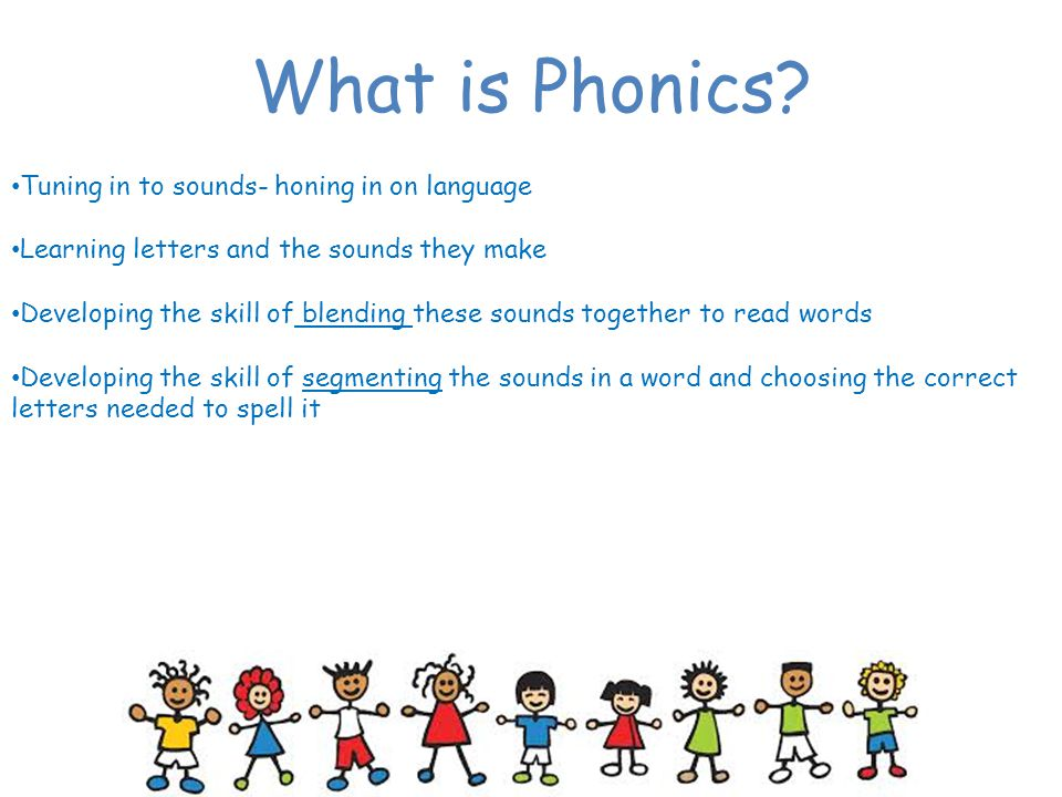 What is Phonics Tuning in to sounds- honing in on language