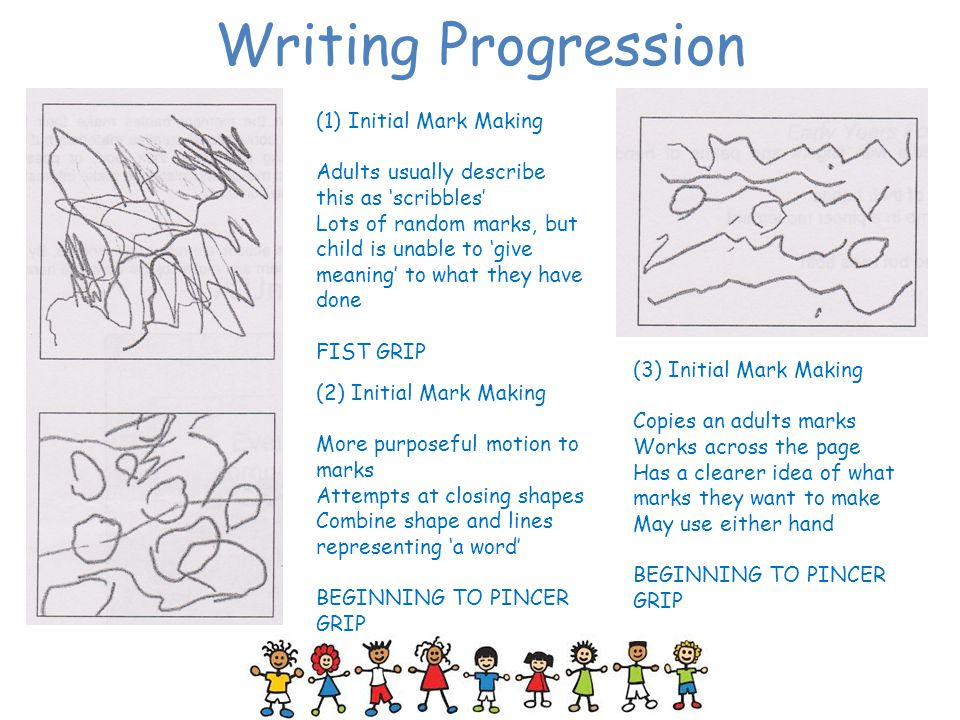 Writing Progression (1) Initial Mark Making