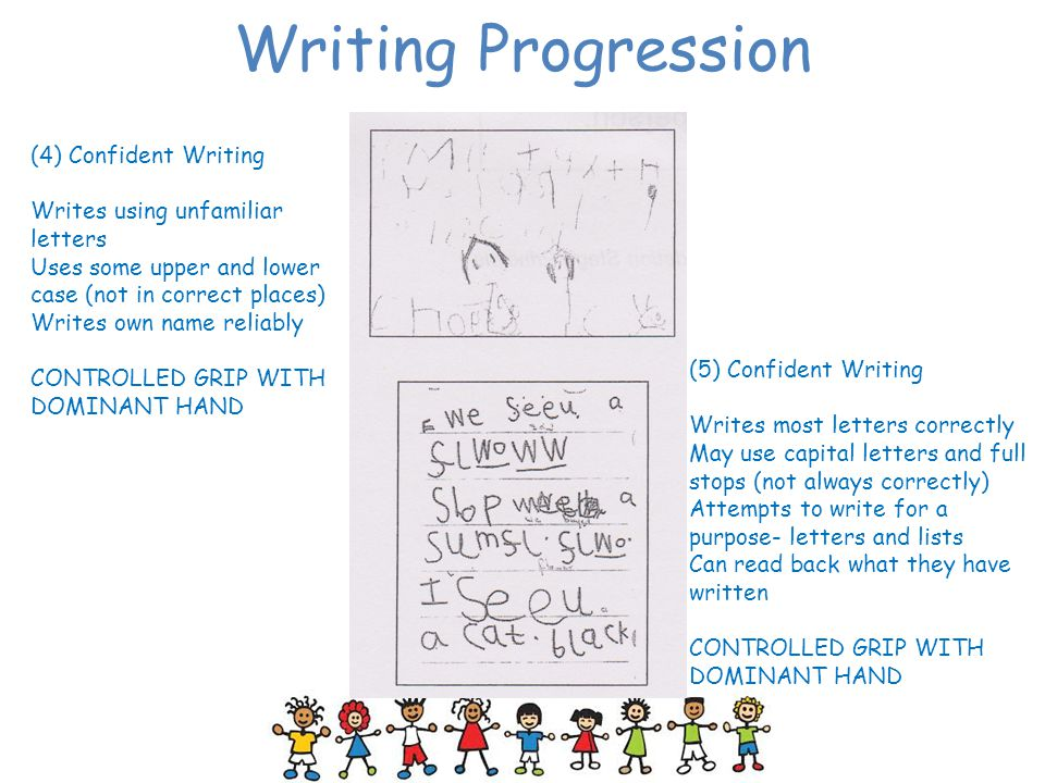 Writing Progression (4) Confident Writing