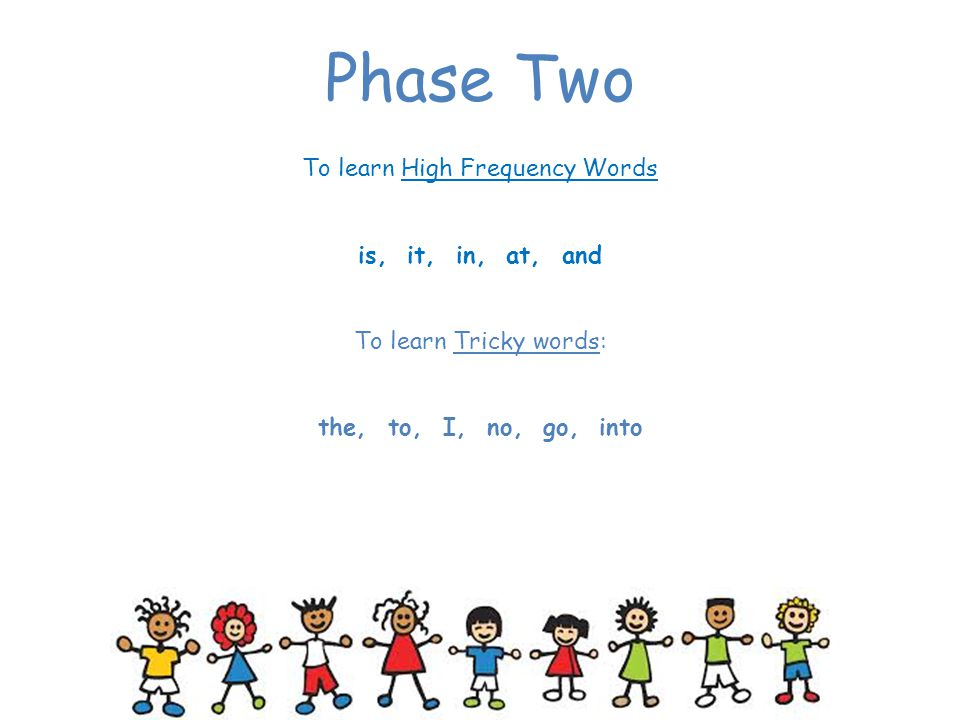 To learn High Frequency Words