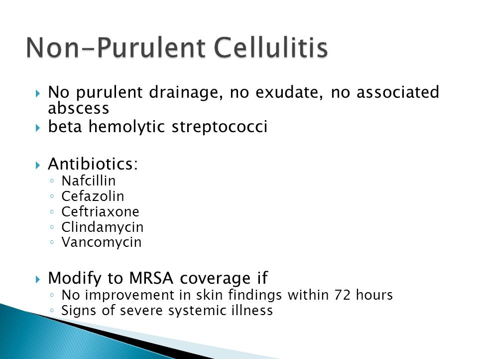 Non-Purulent Cellulitis