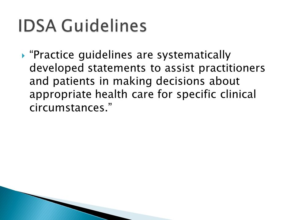 IDSA Guidelines