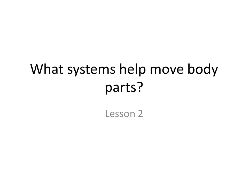 What systems help move body parts