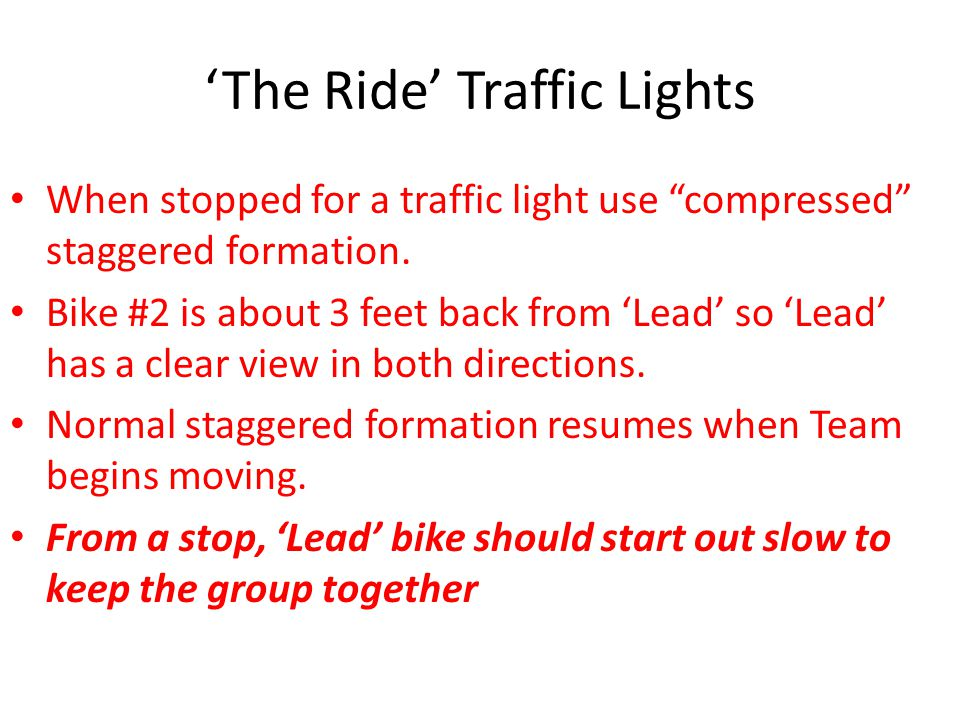 'The Ride' Traffic Lights