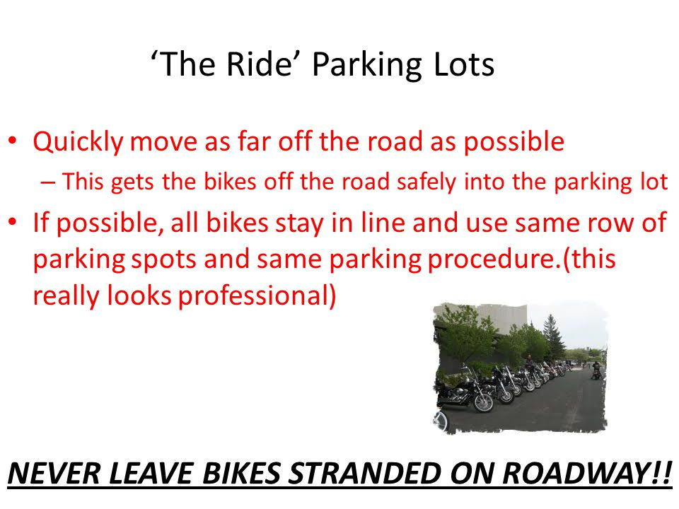 'The Ride' Parking Lots