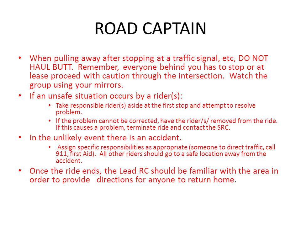 ROAD CAPTAIN