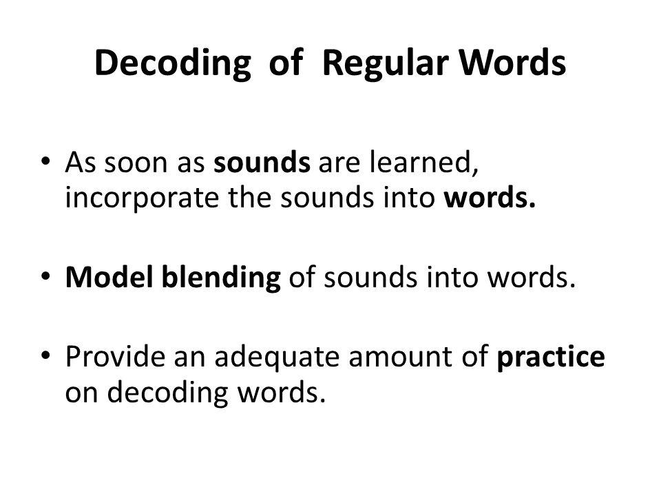 Decoding of Regular Words