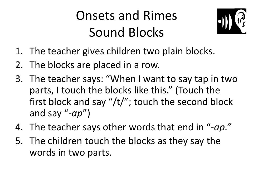 Onsets and Rimes Sound Blocks