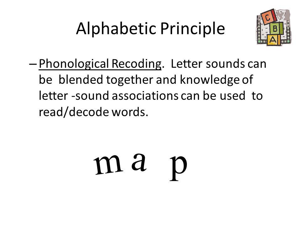 a m p Alphabetic Principle