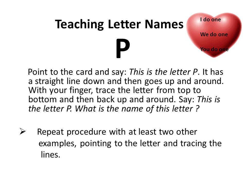 P Teaching Letter Names