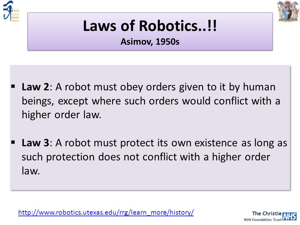 Laws of Robotics..!! Asimov, 1950s