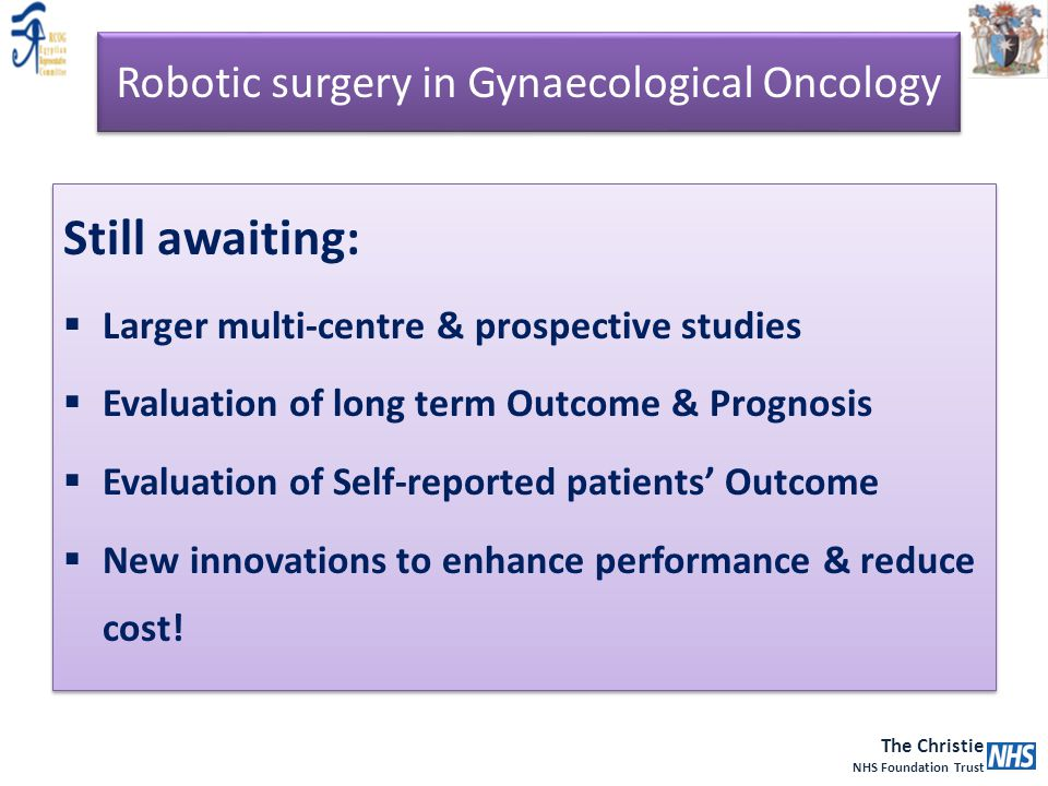 Robotic surgery in Gynaecological Oncology