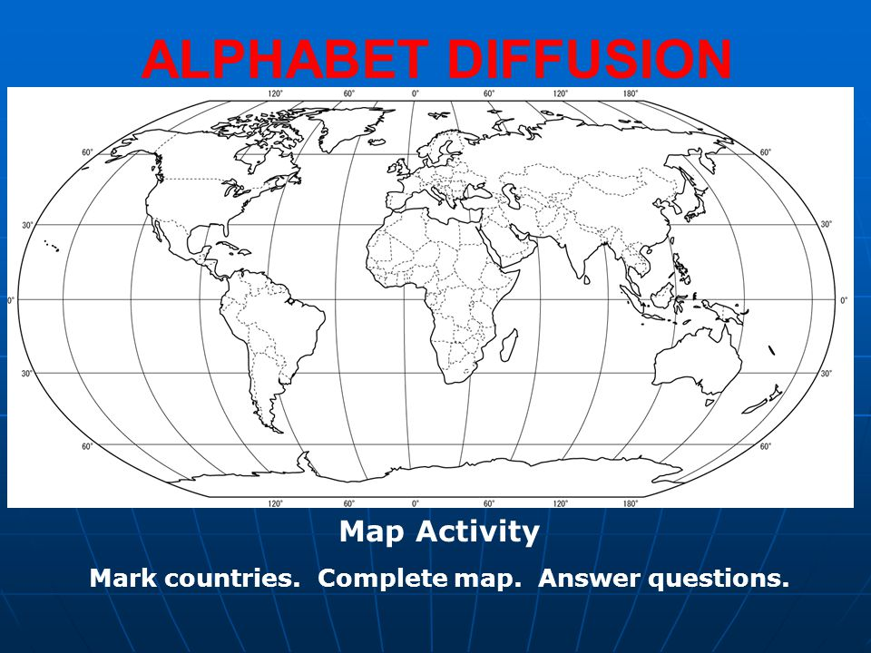 Mark countries. Complete map. Answer questions.