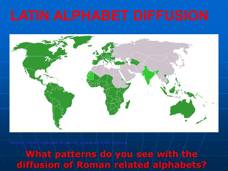 LATIN ALPHABET DIFFUSION