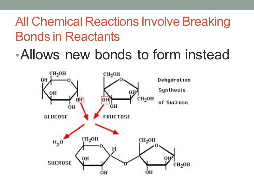 All Chemical Reactions Involve Breaking Bonds in Reactants