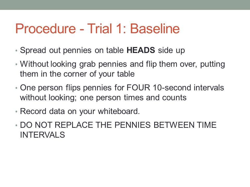 Procedure - Trial 1: Baseline