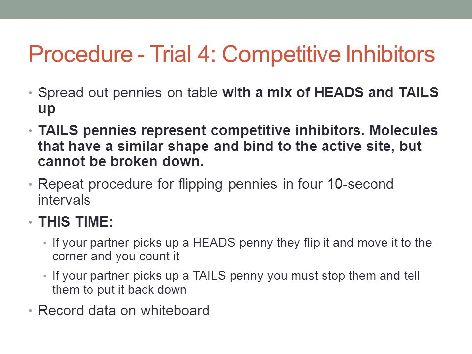 Procedure - Trial 4: Competitive Inhibitors
