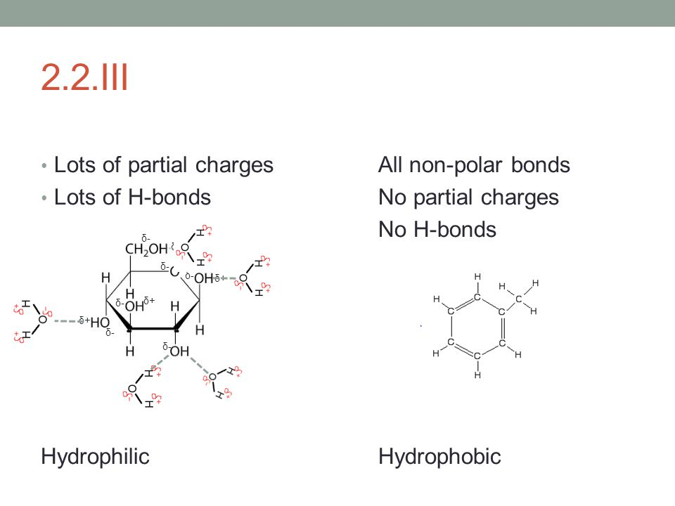 2.2.III Lots of partial charges All non-polar bonds