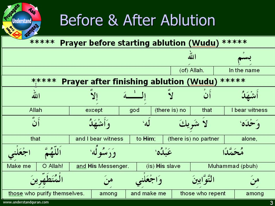 Before & After Ablution