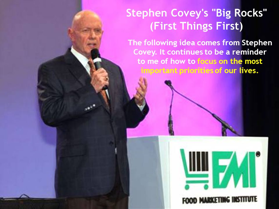Stephen Covey s Big Rocks (First Things First)