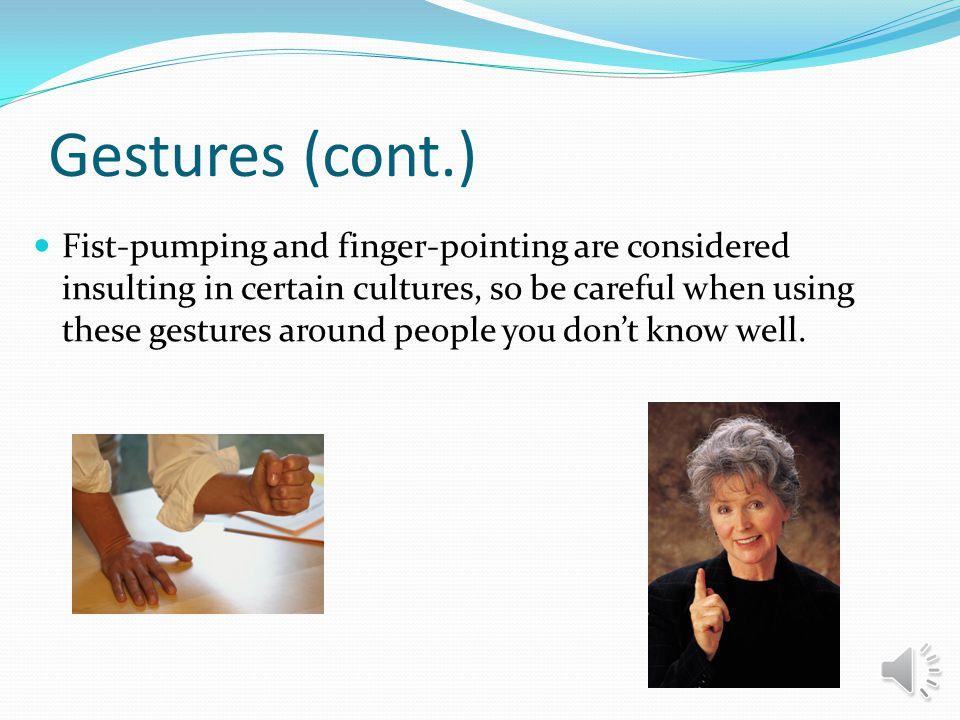Gestures (cont.)