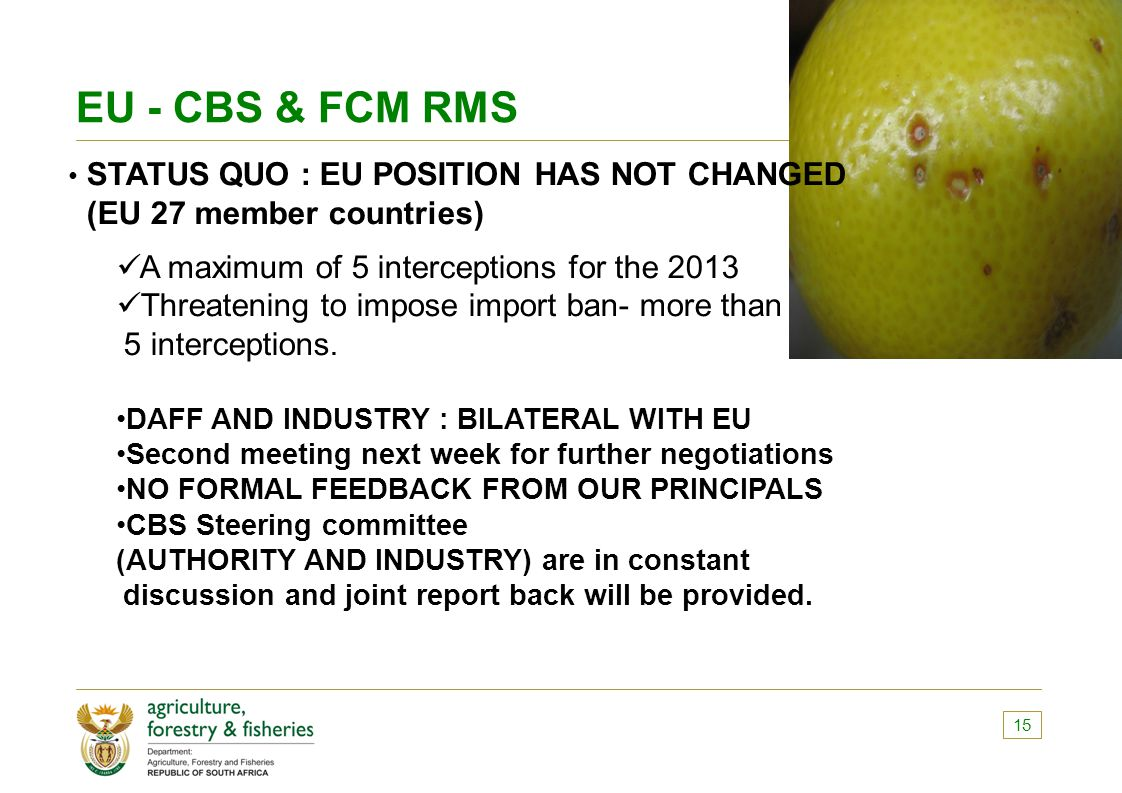 EU - CBS & FCM RMS (EU 27 member countries)