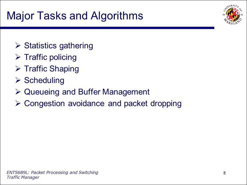 Major Tasks and Algorithms