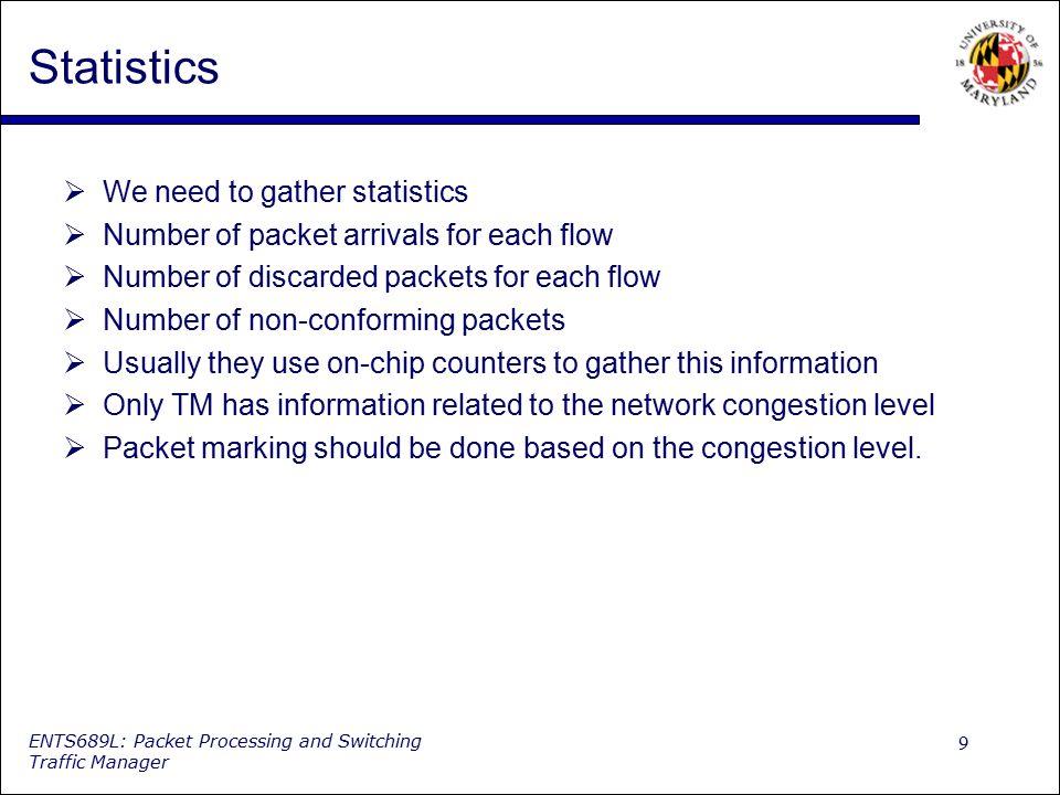 Statistics We need to gather statistics